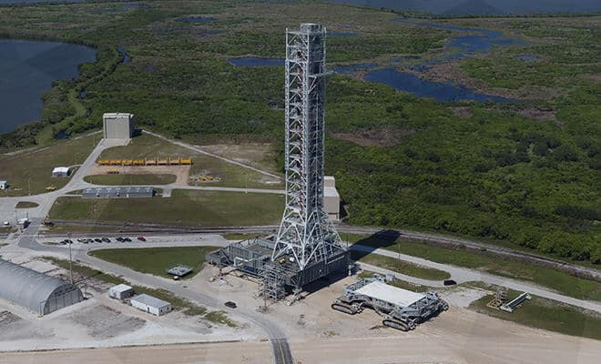 Modification of the Ares-I Mobile Launcher for Space Launch System