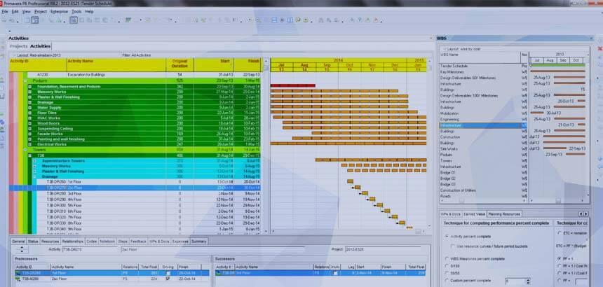 Primavera scheduling services sample
