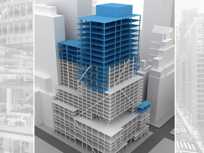 Isometric View of 390 Madison building